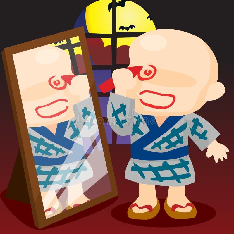 De Japanse Jongen van Halloween royalty-vrije illustratie
