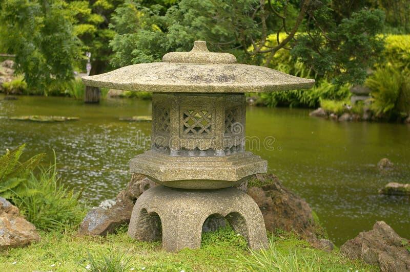 De Japanse Lantaarn van de Steen royalty-vrije stock fotografie