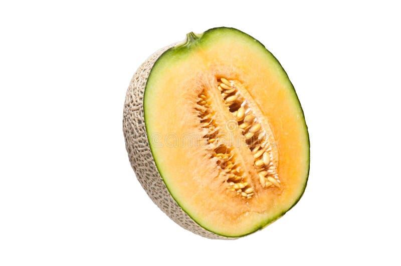 de Japanse meloen isoleert op witte achtergrond stock afbeelding