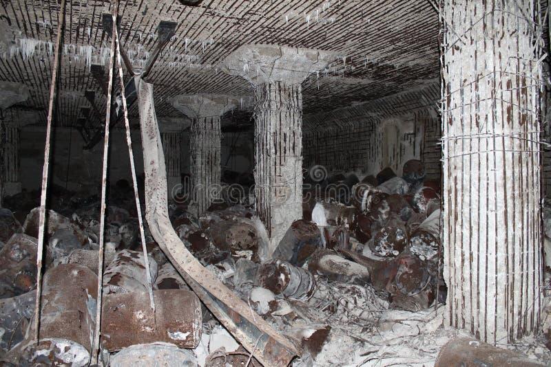 De Japanse Ruïnes van de Brandstofbunker op Tinian 3 stock fotografie
