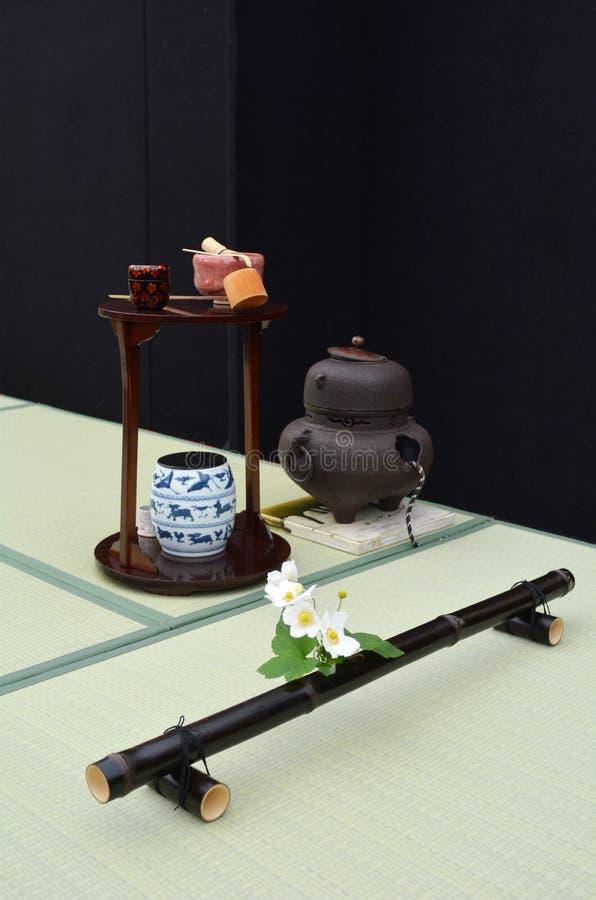 De Japanse ruimte van de theeceremonie royalty-vrije stock fotografie