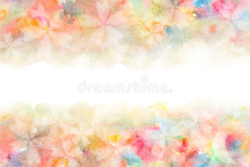 De Japanse samenvatting van de kersenbloesem op de kleurrijke achtergrond van de waterverfverf royalty-vrije illustratie