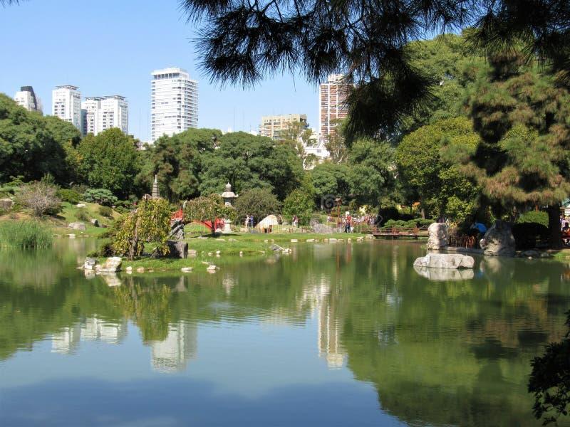 De Japanse Tuinen van Buenos aires in het gebied van Palermo royalty-vrije stock fotografie