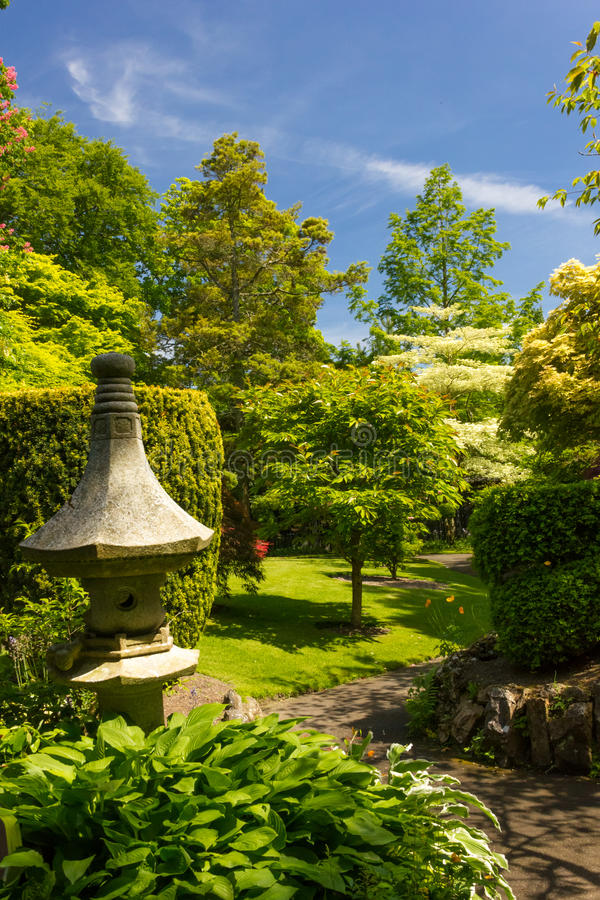 De Japanse Tuinen van de Ierse Nationale Nagel.  Kildare. Ierland stock fotografie