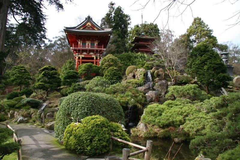 De Japanse Tuinen van de Thee stock fotografie