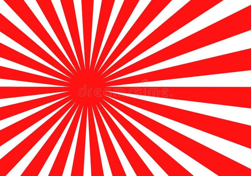 De Japanse vectorillustratie van de zonvlag vector illustratie