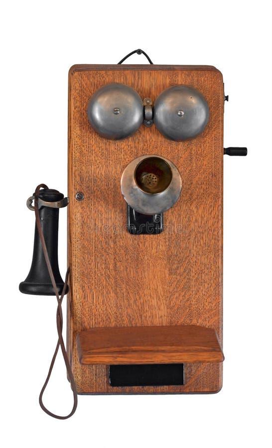 de jaren 1900 Telefoon op Wit royalty-vrije stock foto's