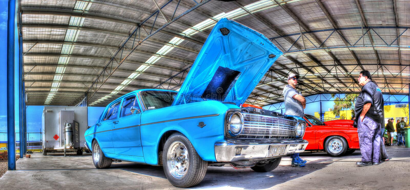 de jaren '70 Australiër bouwden Ford stock afbeeldingen
