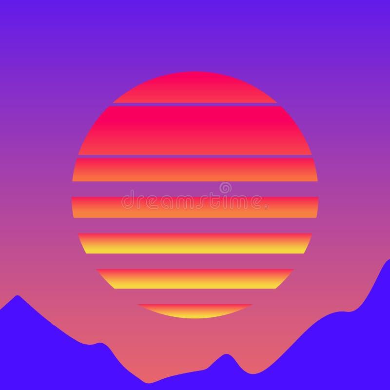 De jaren '80stijl van de Retrowavezon royalty-vrije illustratie