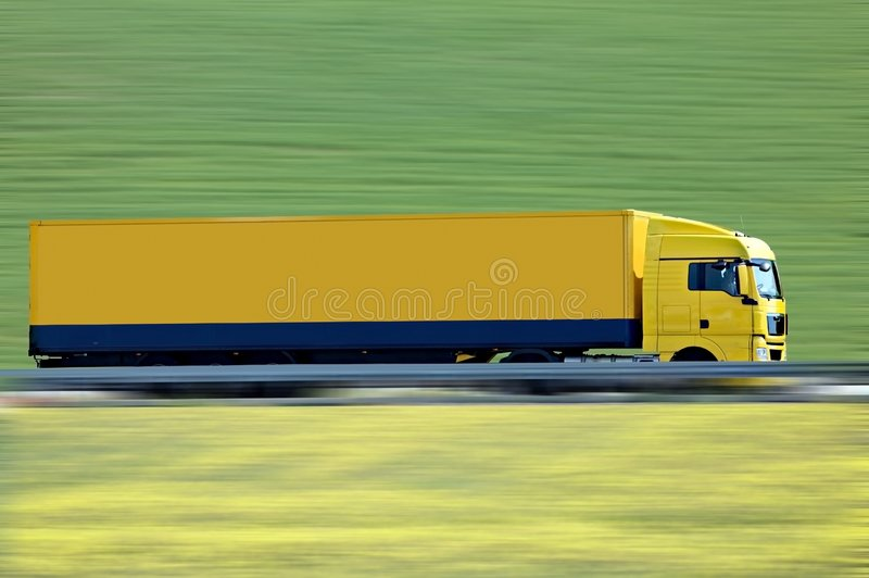 De jaune camion semi image libre de droits