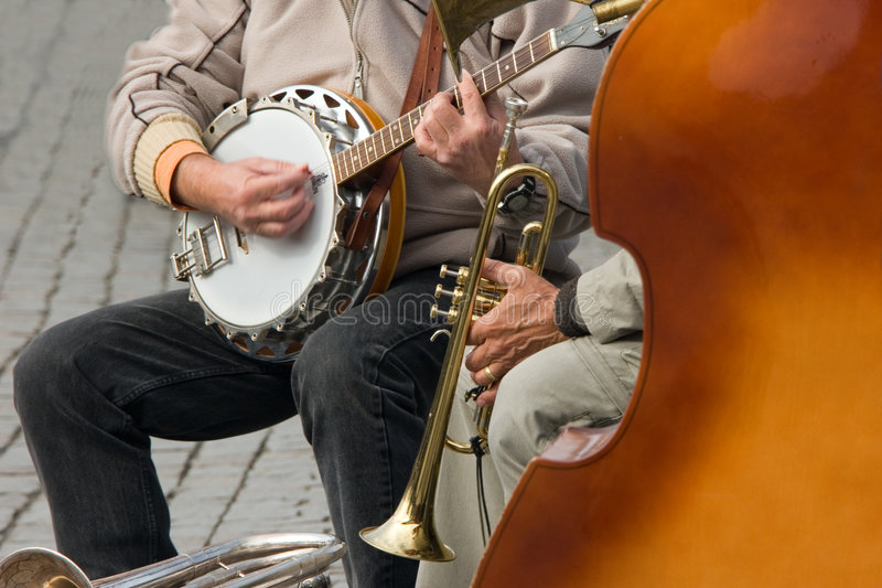 De jazz van de straat royalty-vrije stock afbeeldingen