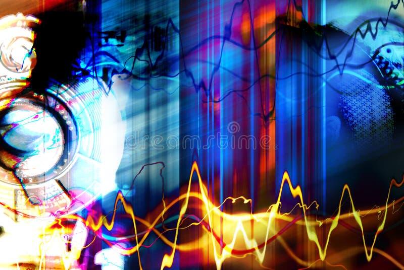 De jazz van Techno sloeg vector illustratie