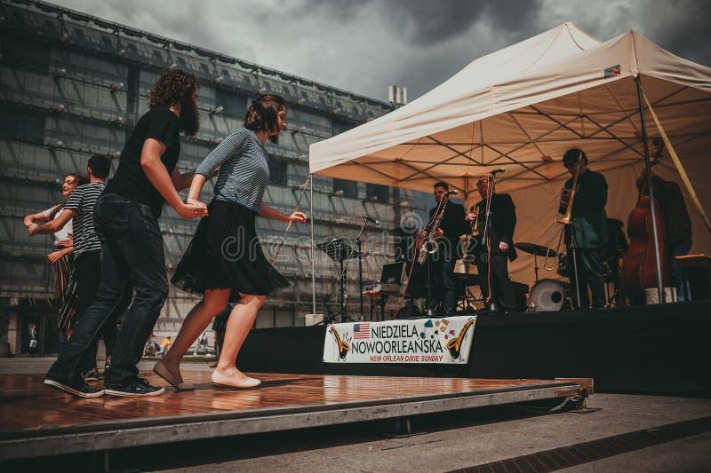 De Jazzfestival van New Orleans in Krakau, Polen royalty-vrije stock foto's