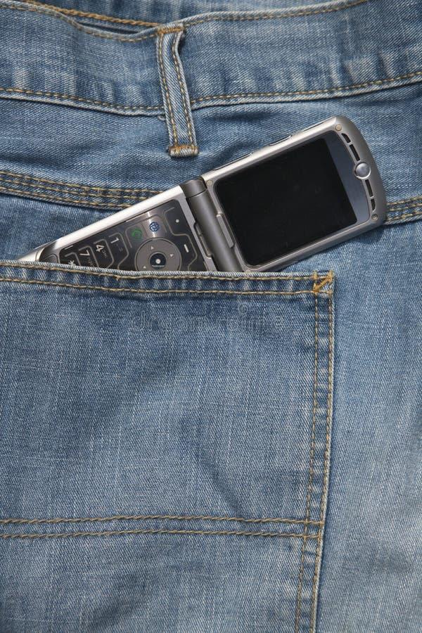 De jeans van de cel royalty-vrije stock foto