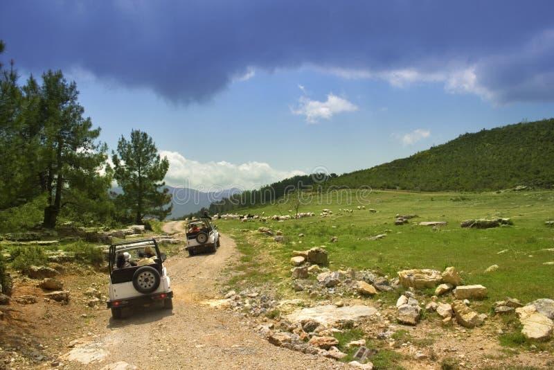 De jeepsafari van Turkije royalty-vrije stock foto