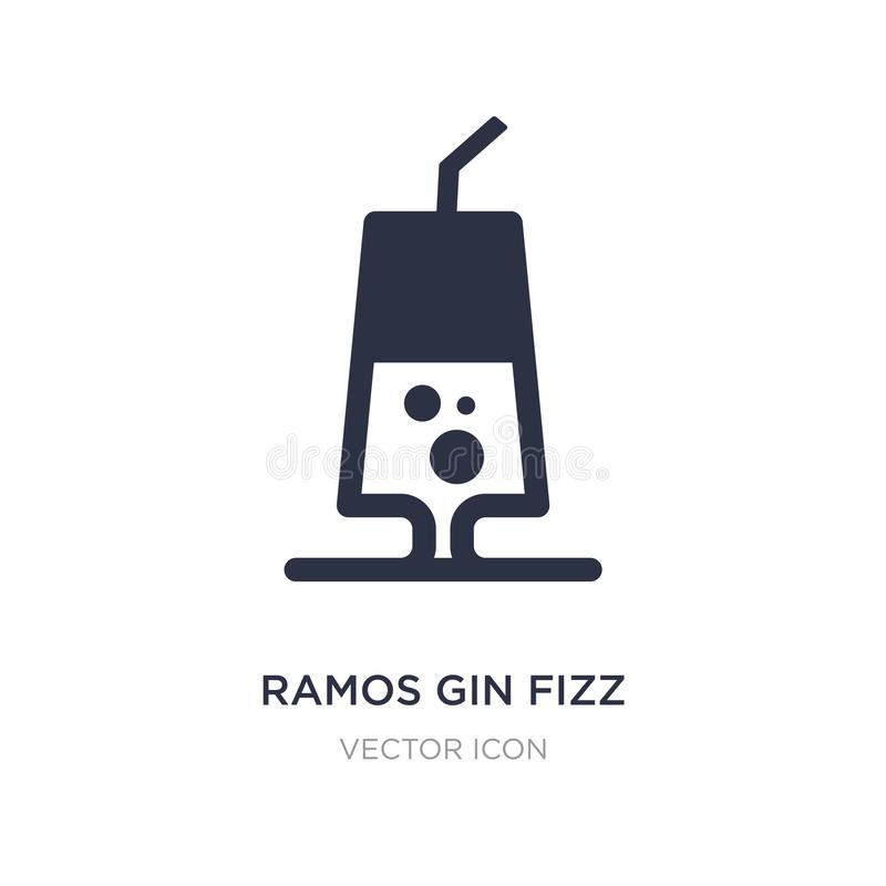 de jenever van Ramos bruist pictogram op witte achtergrond Eenvoudige elementenillustratie van Drankenconcept royalty-vrije illustratie