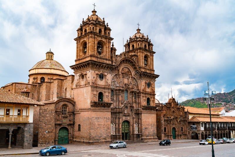 De Jesus Iglesia de la Companie auf der Piazza de Armas in Cusco stockbilder