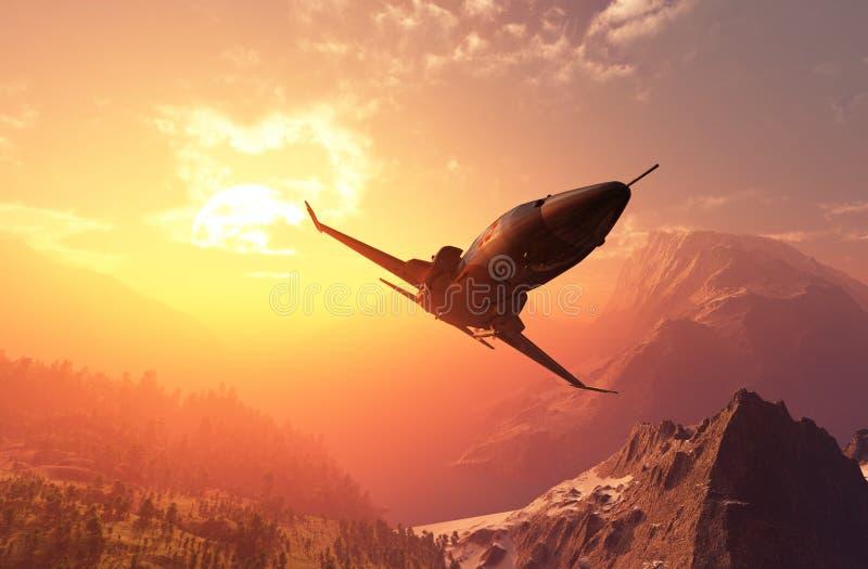 De jet stock illustratie