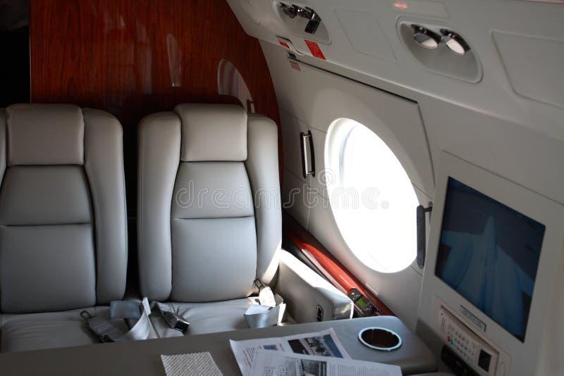De jet zit royalty-vrije stock fotografie