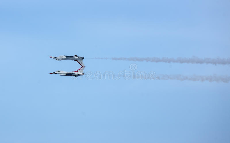 De jets van de Luchtmachtthunderbirds van de V.S. stock foto