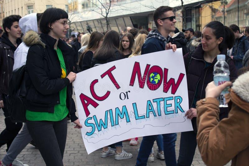 De jeugd voor climate5 royalty-vrije stock fotografie