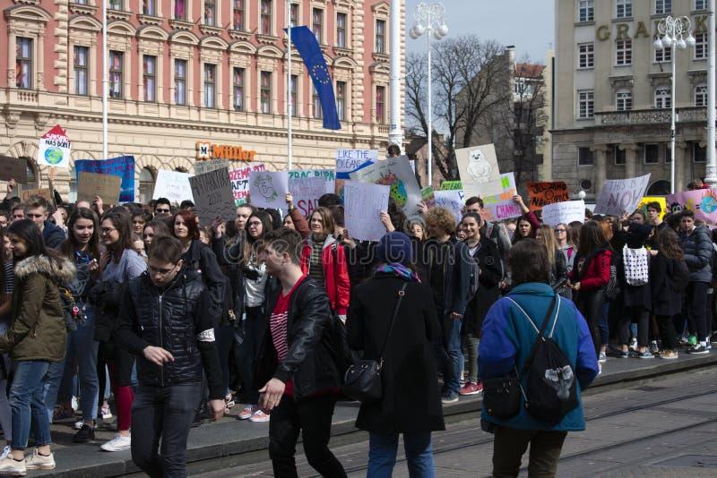 De jeugd voor climate8 royalty-vrije stock afbeeldingen