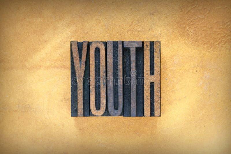 De jeugdletterzetsel royalty-vrije stock afbeeldingen