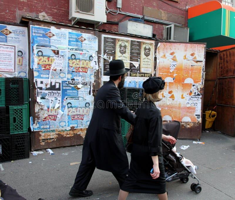 De Joden van Hassidic in Brooklyn stock foto's