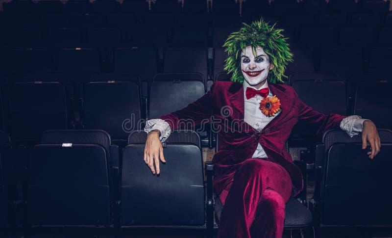 De Joker van Batman bij grappig bedriegt gebeurtenis royalty-vrije stock foto