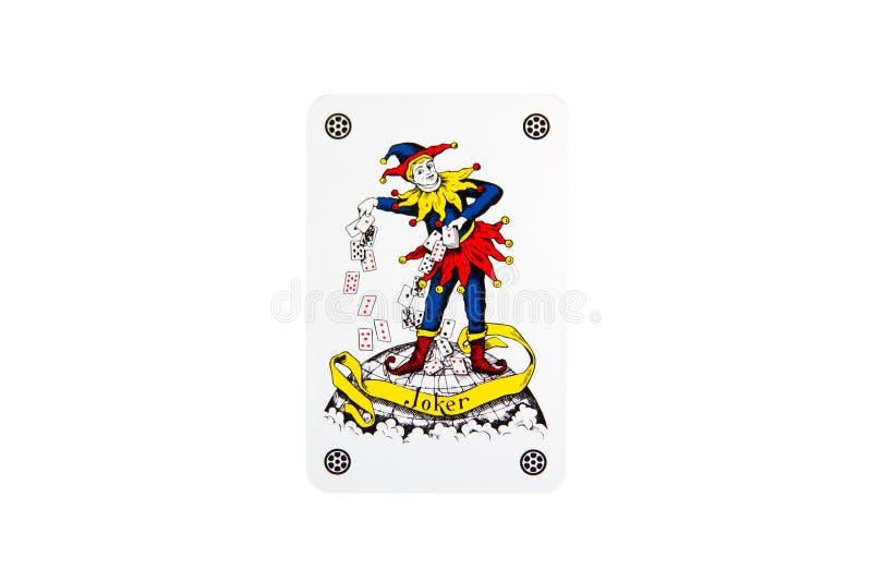 De Jokerspeelkaart royalty-vrije stock foto's