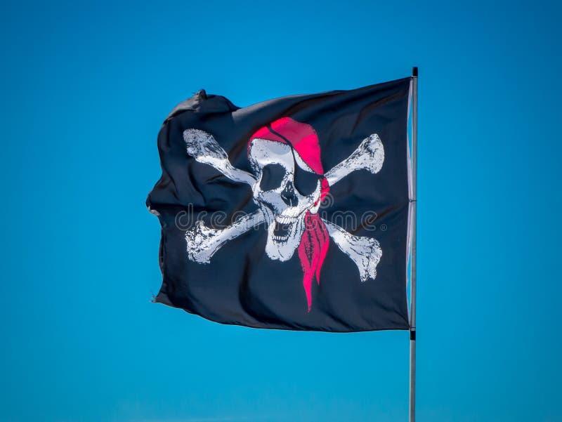 De Jolly Roger-vlag royalty-vrije stock afbeeldingen