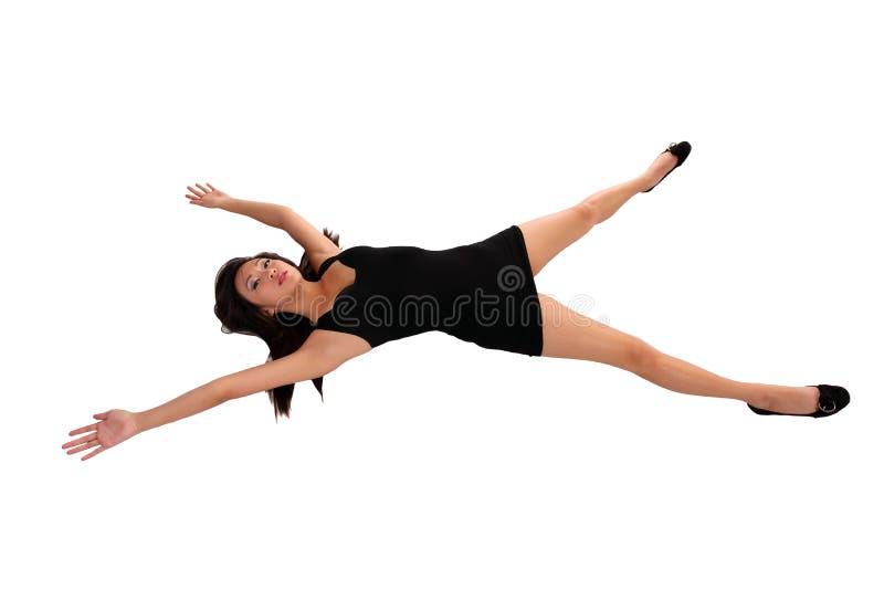 De jonge Aziatische Amerikaanse armen en de benen van de Vrouw uit royalty-vrije stock afbeelding