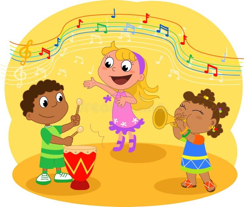 De jonge band van de Muziek stock illustratie