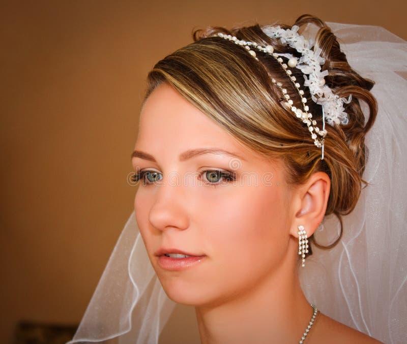 De jonge close-up van de Bruid royalty-vrije stock afbeelding