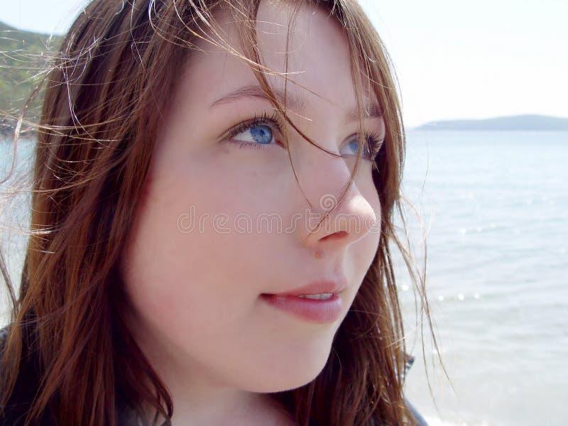 De jonge Close-up van de Vrouw stock afbeelding