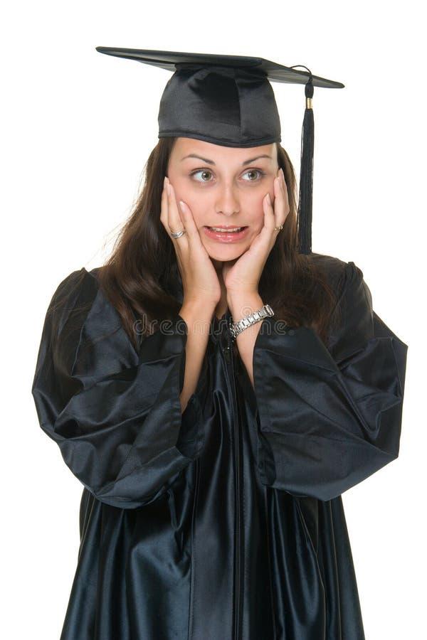De jonge Gediplomeerde van de Vrouw stock afbeelding