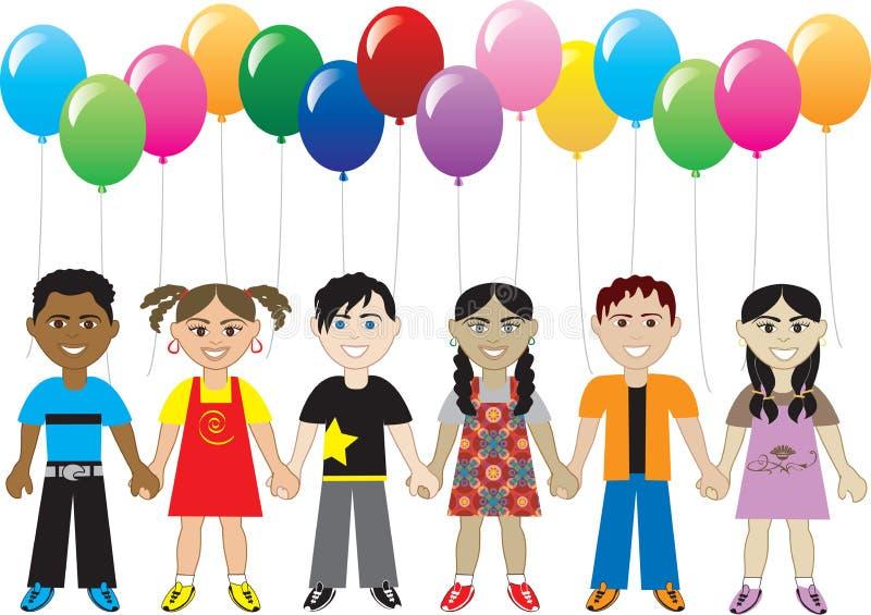 De Jonge geitjes van de ballon vector illustratie
