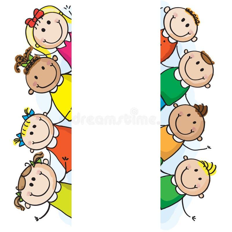De jonge geitjes van de banner stock illustratie