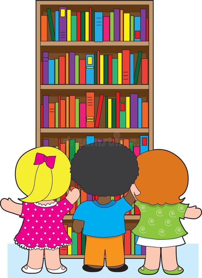 De Jonge geitjes van de boekenkast royalty-vrije illustratie