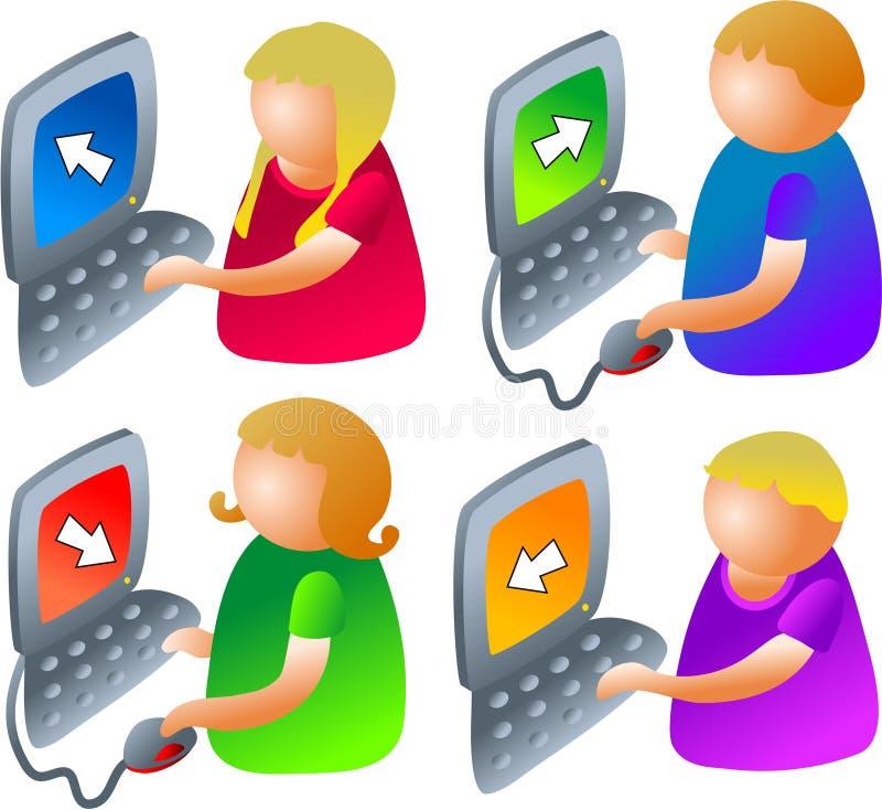 De jonge geitjes van de computer vector illustratie
