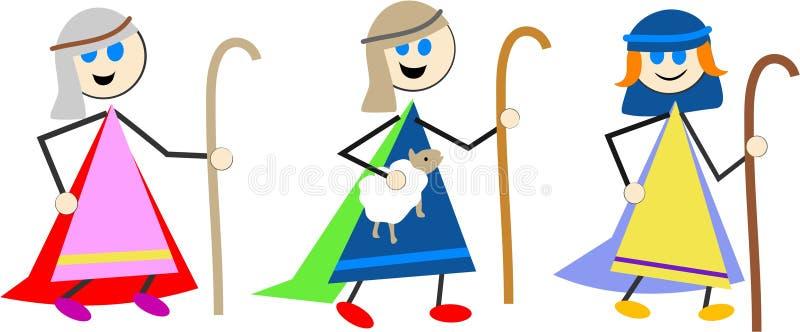 De jonge geitjes van de herder royalty-vrije illustratie