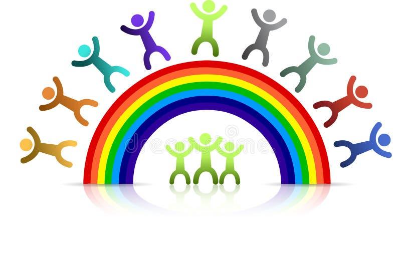De jonge geitjes van de regenboog vector illustratie
