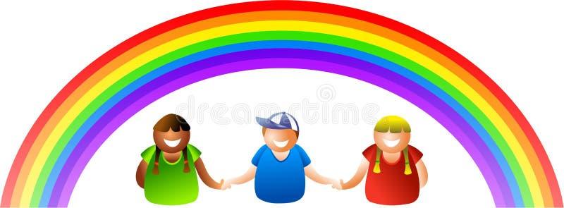 De jonge geitjes van de regenboog