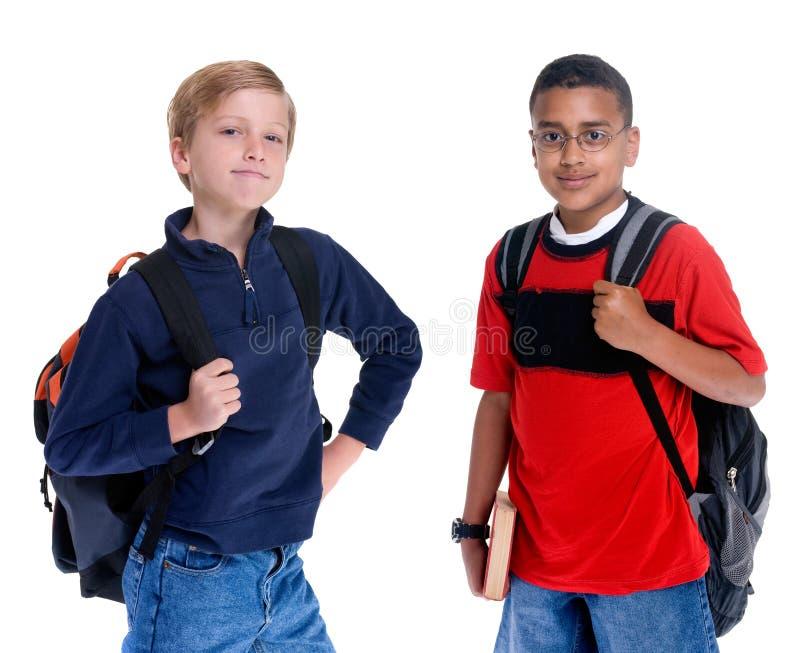 De Jonge geitjes van de school royalty-vrije stock fotografie