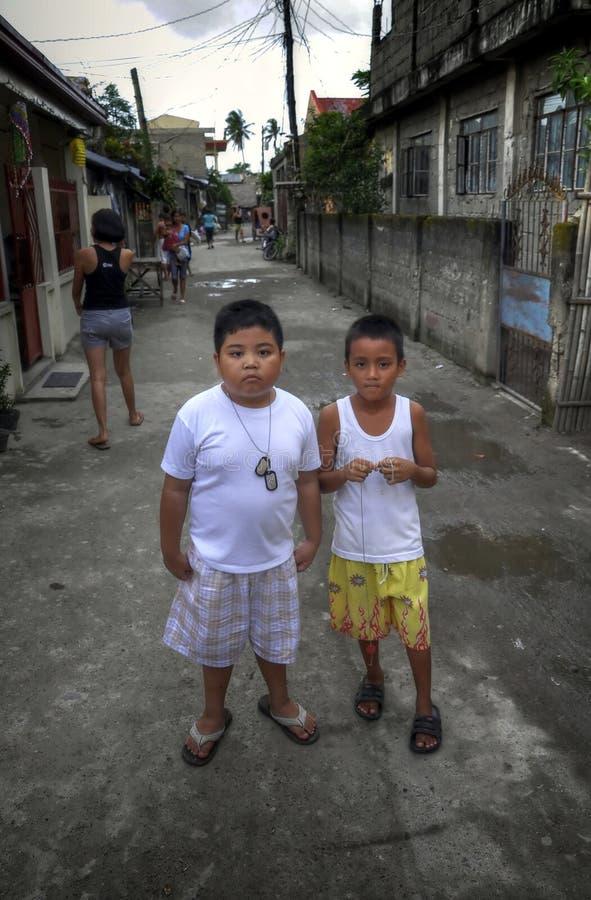 De Jonge geitjes van de straat stock fotografie