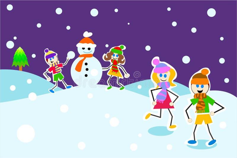 Download De Jonge Geitjes Van De Winter Stock Illustratie - Illustratie bestaande uit illustraties, activiteiten: 288266