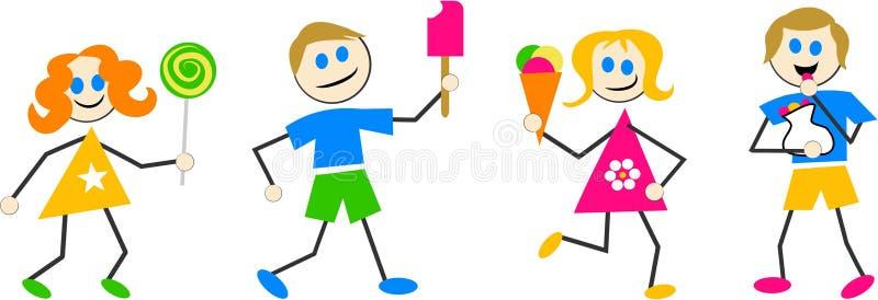 De Jonge geitjes van het suikergoed vector illustratie