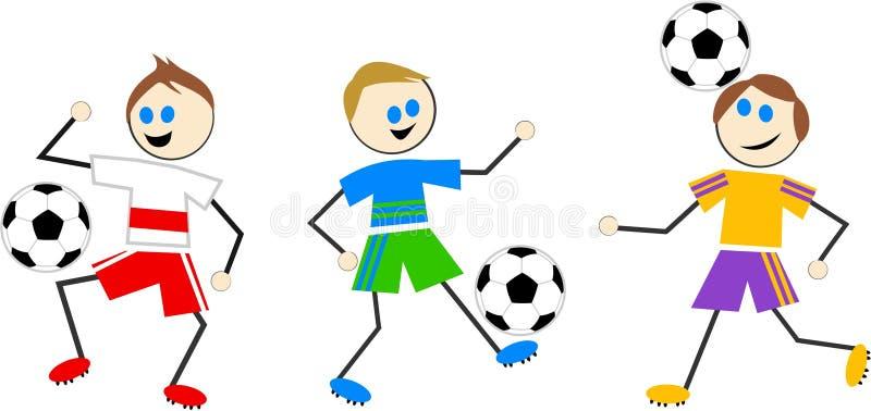 De jonge geitjes van het voetbal royalty-vrije illustratie