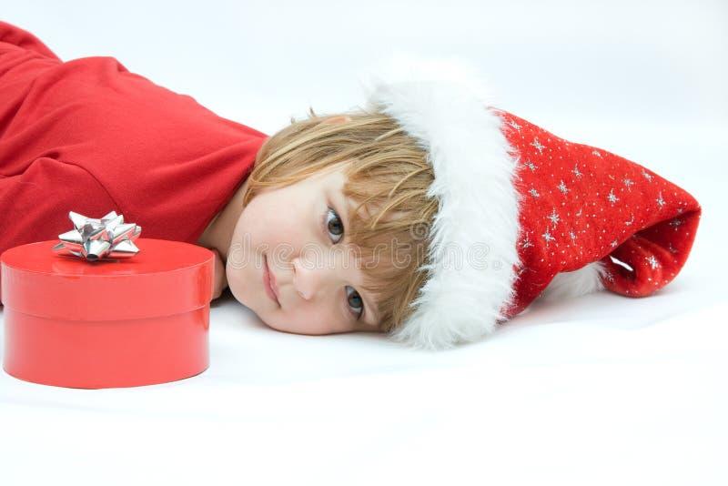 De jonge geitjes van Kerstmis royalty-vrije stock fotografie