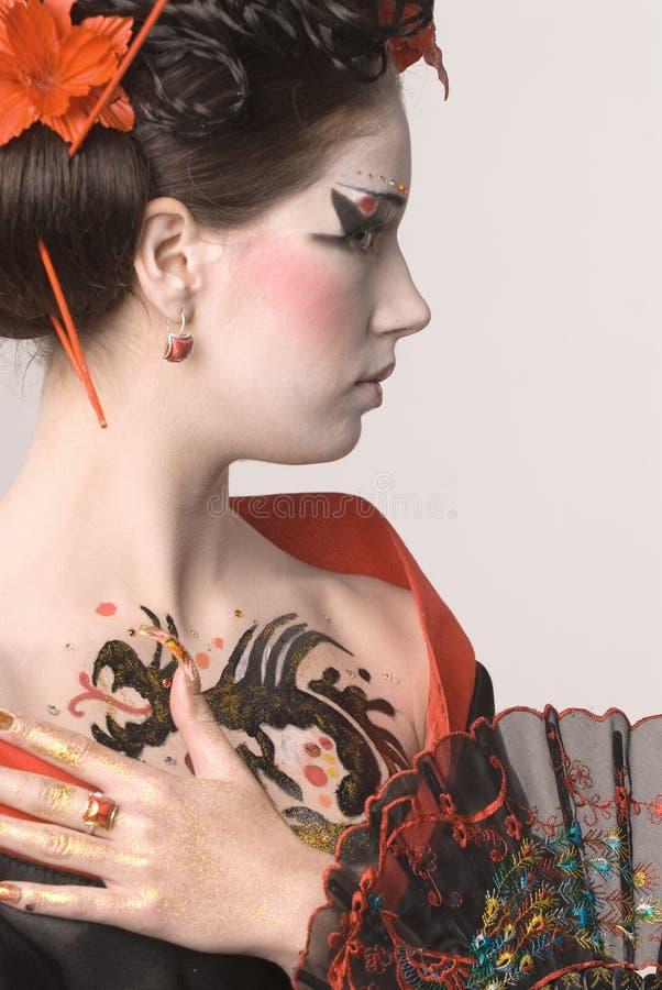 De jonge Japanse vrouw stock fotografie